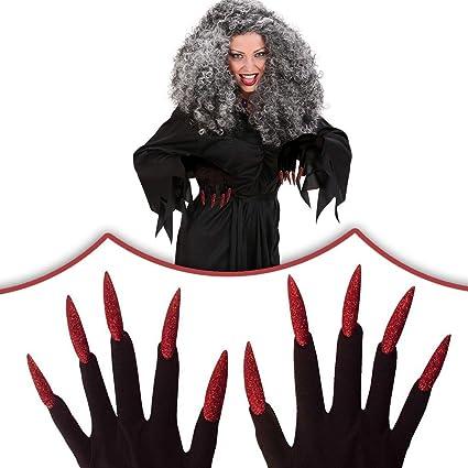 Guantes de bruja halloween uñas postizas: Amazon.es ...