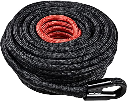 Astra Depot Orange 95ft x 3//8 Synthetic Winch Rope Line Cable 22000LBs with All Heat Rock Guard for Recovery SUV Truck ATV UTV 4x4 Boat