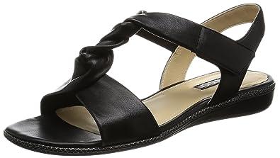 Ecco Damen Touch Sandal Offene Keilabsatz, Schwarz (1001BLACK), 42 EU