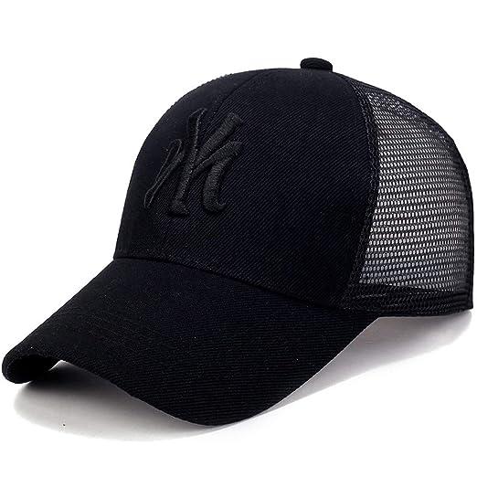 e677037369 Male Female Cap Letter Embroidery Baseball Caps Summer Mesh Sun Hats Unisex  Snapback Hip Hop Hat