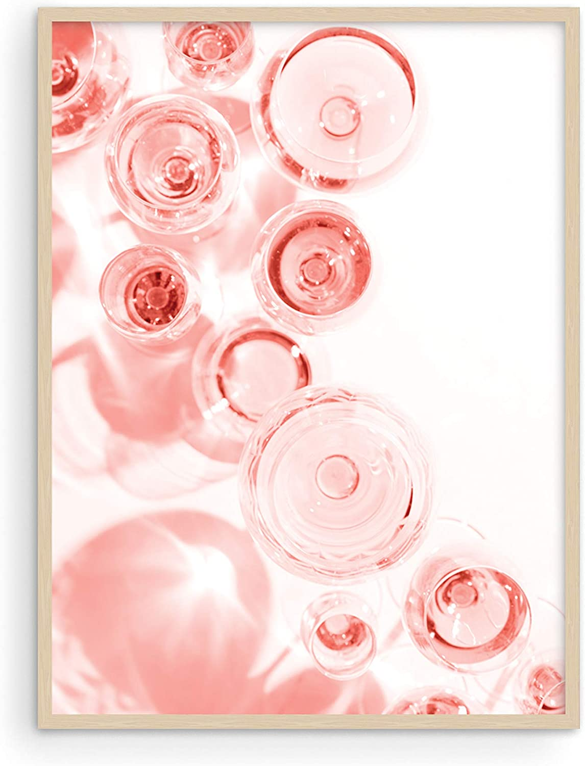 """Blush Pink Wall Decor Champagne Flutes - By Haus and Hues 