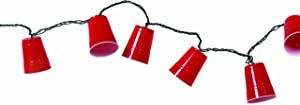 DEI Party Cup String Lights, Red - 8.5 ft, 10 lights (11087)