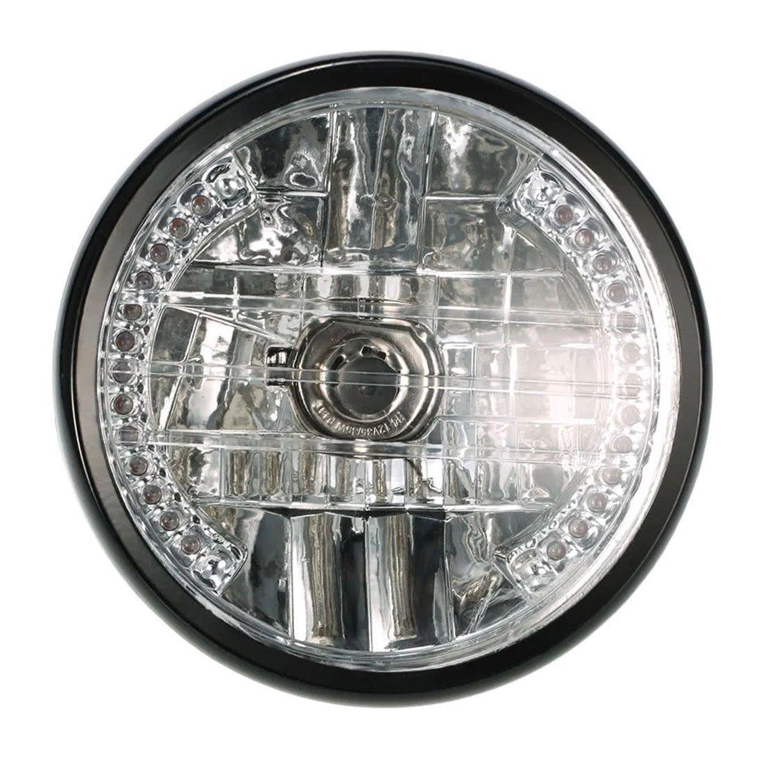 ZHUOYUE 1 Piece 7Inch Motorcycle Headlight Round 35W 3000K Motorcycle Headlight LED Turn Signal Indicators Light Universal