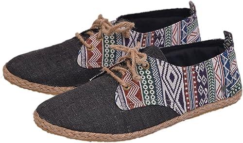 virblatt – Leichte Schuhe und Sommerschuhe aus Hanf in Schwarz und Naturfarben mit Ethno Stickereien Barfuss Bunt