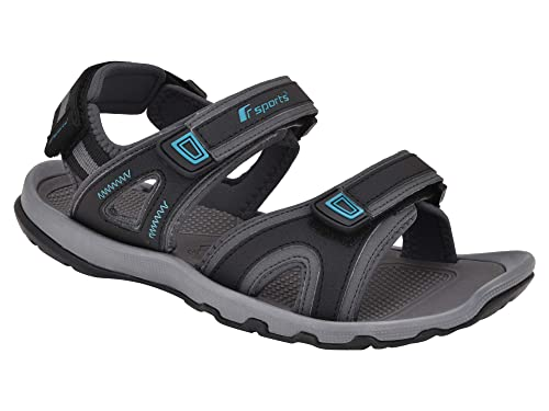 29d8d3bc29f873 Fsports NEXON Series Grey T Blue Casual Sandal for Men (Size : 11Uk ...
