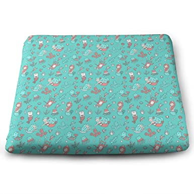Amazon Com Seat Cushion For Office Chair Mermaids And Cats Square