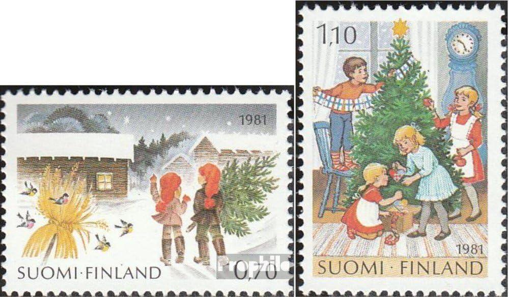 Briefmarken f/ür Sammler 1981 Weihnachten Weihnachten kompl.Ausg. Prophila Collection Finnland 889-890