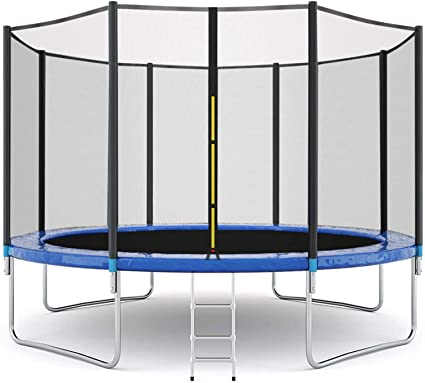 TTOOHHH 12FT Trampoline Kids Adult,Outdoors Indoor Recreational Trampolines with Enclosure Net Jumping Mat Spring Cover Padding