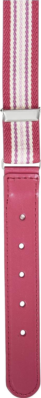 65 Pink pink//gestreift Playshoes Unisex Kinder G/ürtel 601301 Elastischer gestreift mit echtem Leder