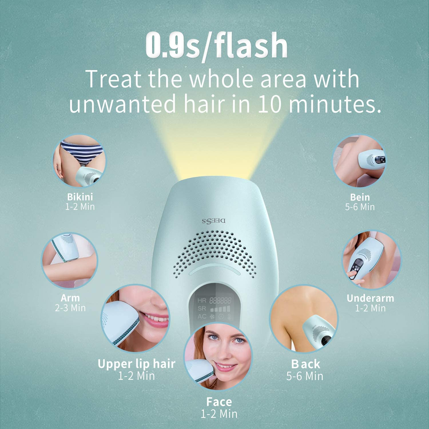 Deess Gp590permanent hair removal device series 3 plus