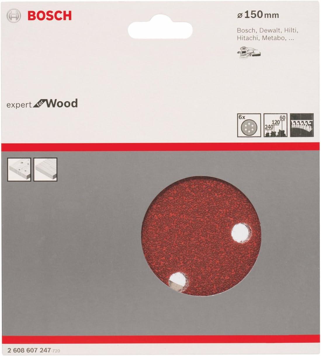 Bosch Professional Schleifblatt C430  Expert for Wood+Paint 150mm Set 6 Stk.
