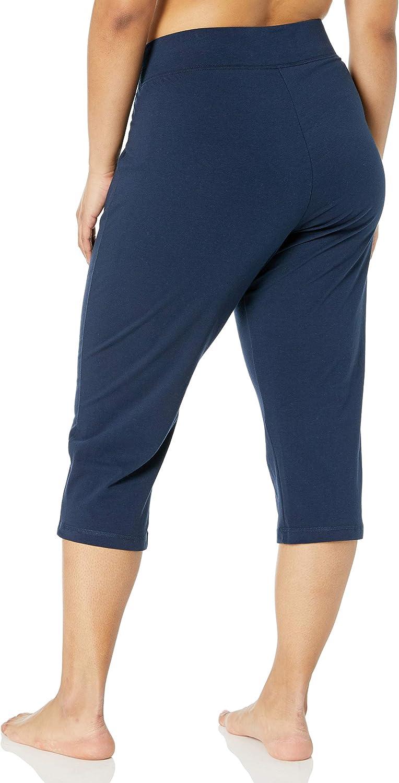 Danskin Women's Sleek Fit Yoga Crop Pant: Clothing
