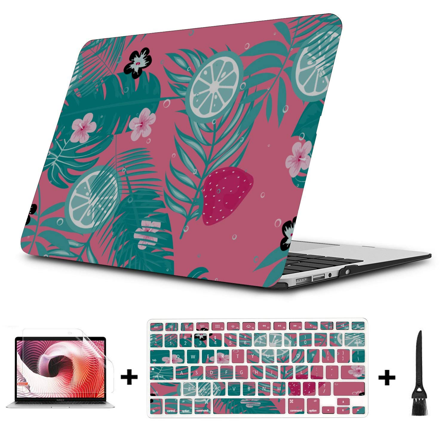 MacBook Pro Cases Summer Sweet Cute Fruit Pineapple Plastic Hard Shell Compatible Mac Air 11 Pro 13 15 Laptop Case Protection for MacBook 2016-2019 Version