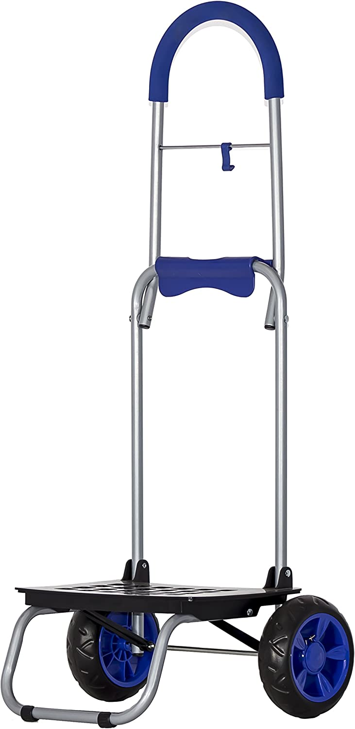 dbest products Mighty Max Personal Dolly, Blue Handtruck Cart Hardware Garden Utilty