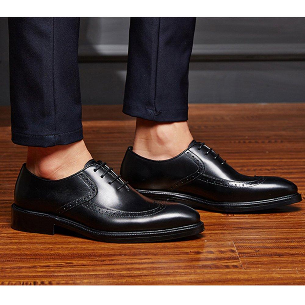 Herren Business Schnitzen Brogues Oxford Leder Lace Up Derby Echtes Leder Oxford Schuhe Hochzeit Formale Schuh Hochzeit Abend Arbeit Party Geschenke schwarz 366d21