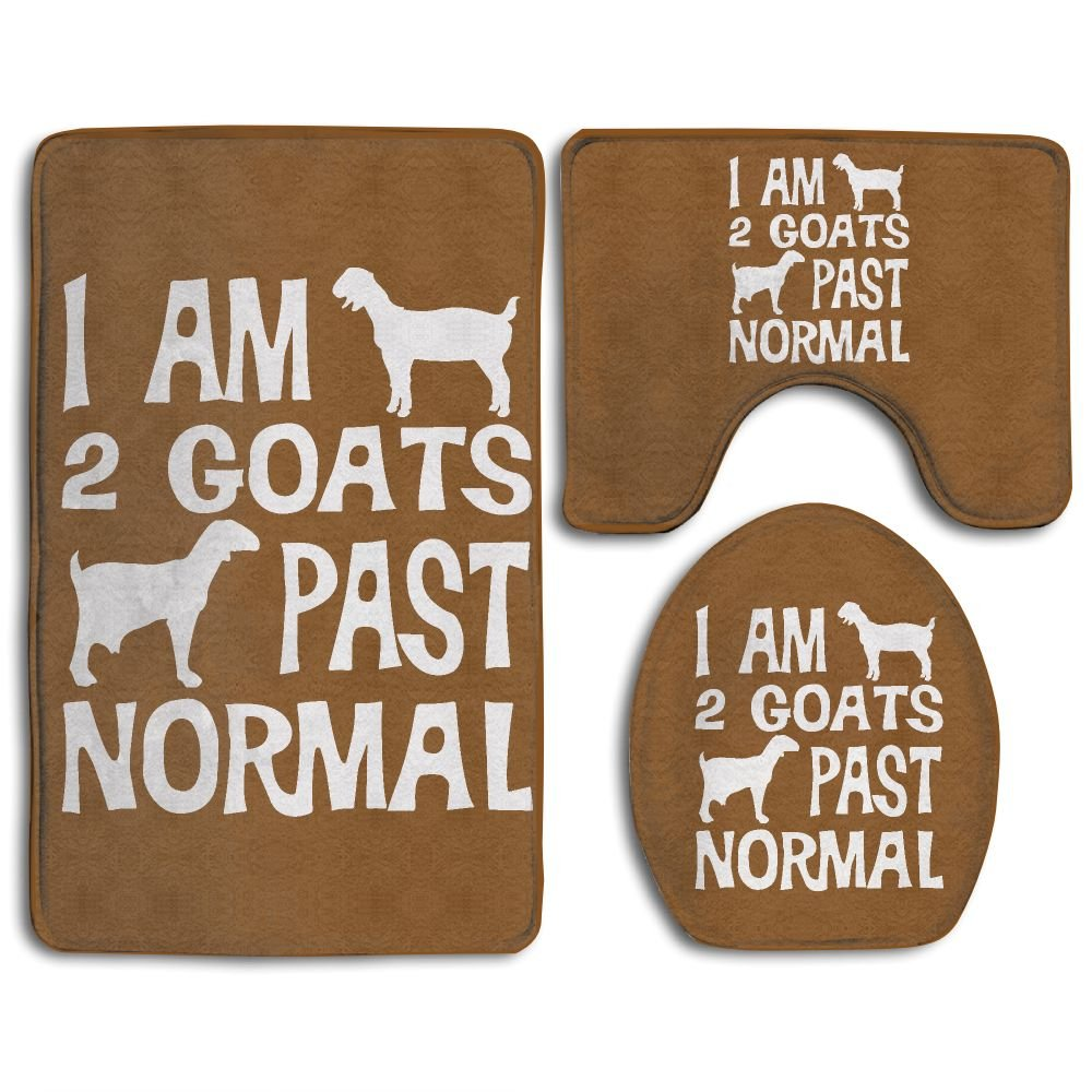 YS3JT&DM I Am 2 Goats Past Normal Goat 3-Piece Non-Slip Bathroom Set With Rug/Contour/Lid Cover - Perfect Combination Of Luxury And Comfort