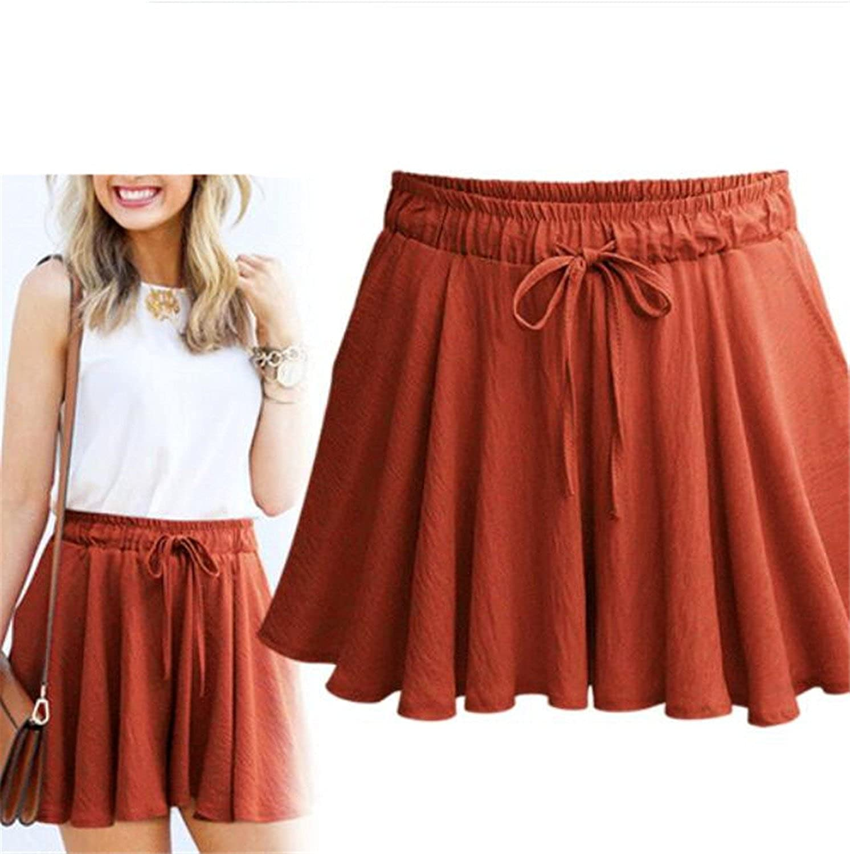 NENGWENWU Women Summer Skirts Fashion Straight Drawstring Straight Shorts Skirts Hot Bottom Skorts