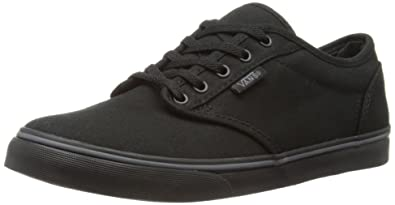 Womens Atwood Low Top Lace Up Canvas Skateboarding Shoes Black Size 5
