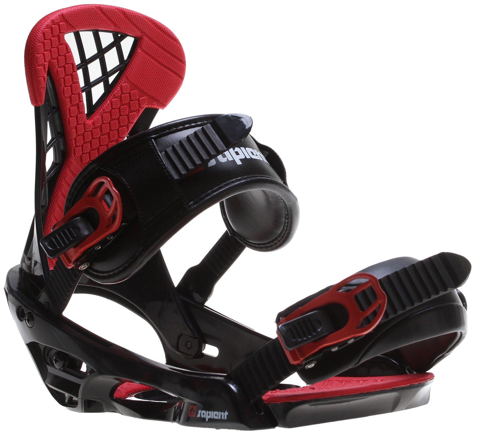 Sapient Wisdom Snowboard Bindings Black/Red Mens Sz M/L (8-12) by Sapient