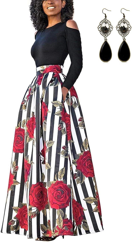TALLA S. carinacoco Mujer Vestido Fiesta Vintage Floral Impresa Dos Piezas de Cóctel Fiesta Color 5 S