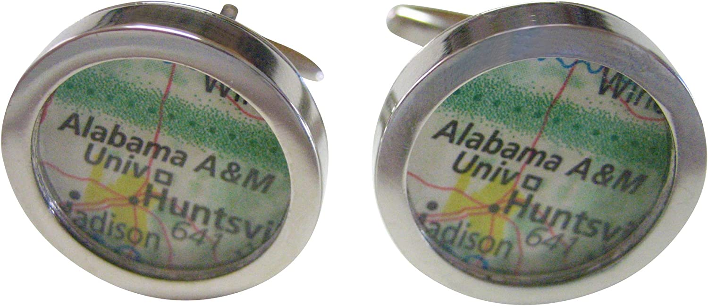 Alabama A and M University Map Cufflinks