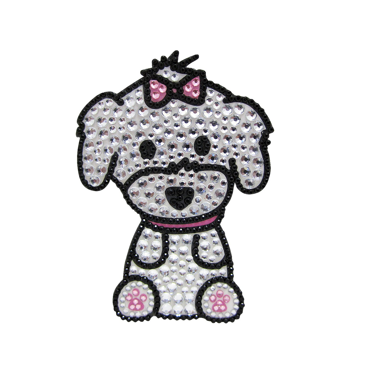 FouFou Dog Rhinestone Sticker, Mediumaltese Girl