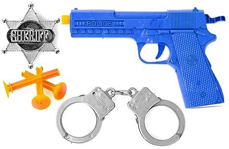 Set Policía Y Juegos Weapon EsposasMarcaAmazon esJuguetes xoedCWBr