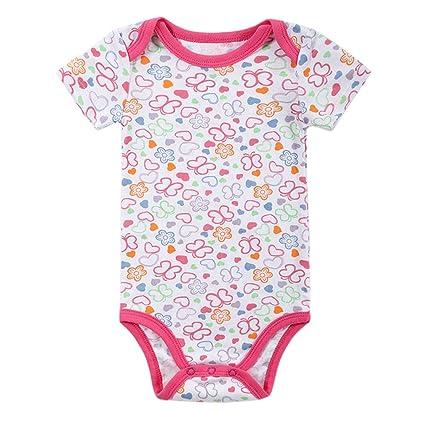 68dd0ed84 Decdeal - Body para bebé (100% algodón, manga corta, unisex, para ...