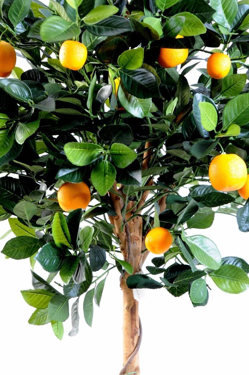 Arbre artificiel fruitier Oranger tête en pot - intérieur - H.125 cm vert orange