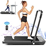 FUNMILY 2 in 1 Under Desk Folding Treadmill, 2.25HP Walking Running Machine with Bluetooth Speaker, Remote Control, Built-in