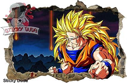 Efecto 3d Dragon Ball Z Goku para pared – 35