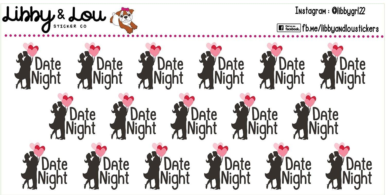 Date Night Planner Sticker Happy Planner Balloons Calendar Erin Condren Cute Couple Agenda