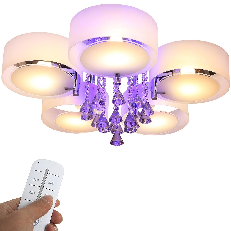 Yorbay LED Kristall Deckenleuchte Deckenlampe E27, RBP Licht mit ...