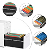 DEVAISE 3-Drawer Mobile File Cabinet with Anti-tilt Mechanism,Legal/Letter Size