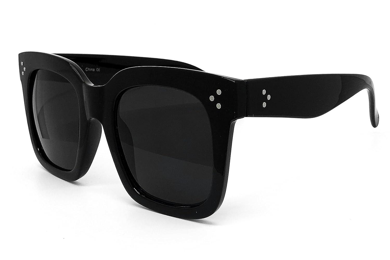b031009015b Amazon.com  O2 Eyewear 7222 Premium Oversize XXL Women Men Mirror Brand  Style Fashion Sunglasses (ALL BLACK