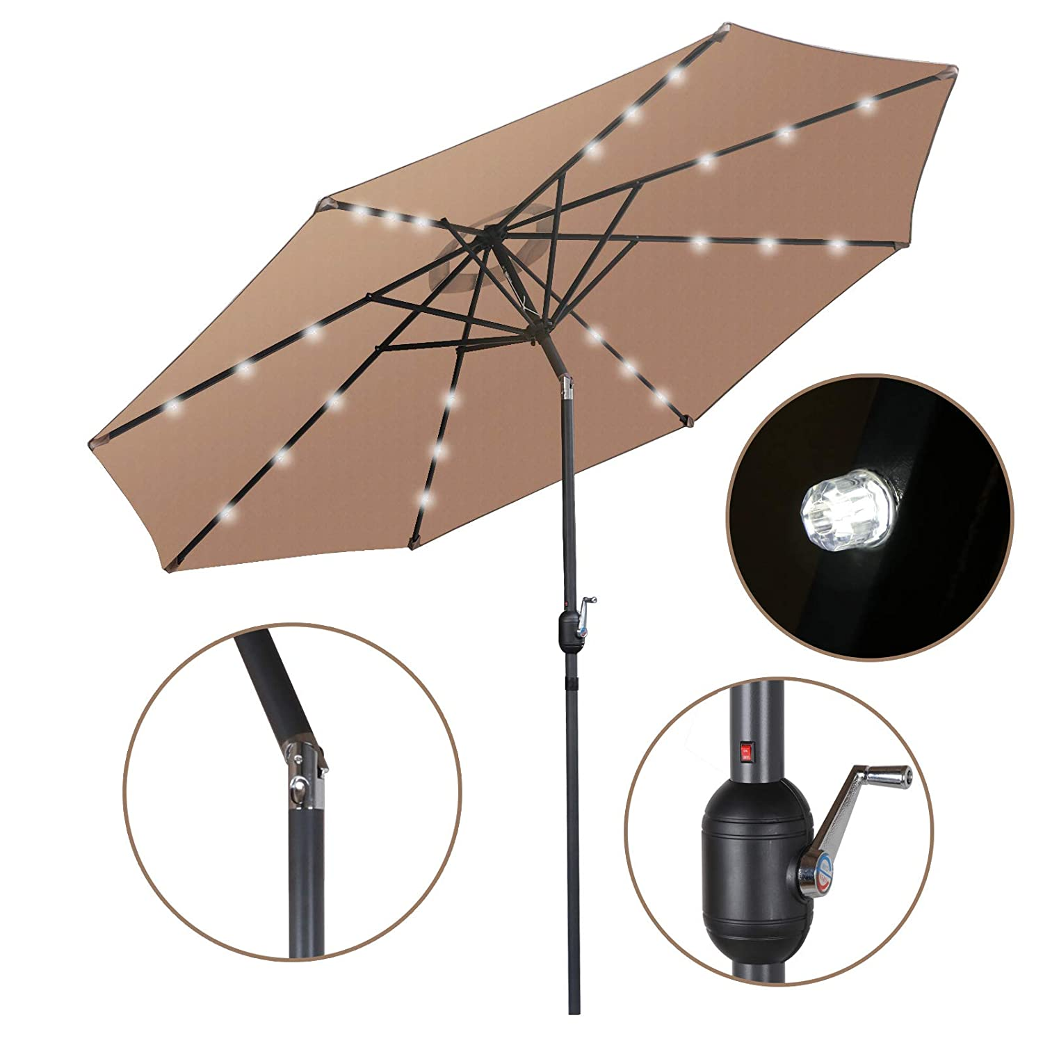 SUPER DEAL Solar Umbrella