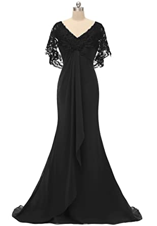 Pretygirl Women\'s Lace Chiffon Long Prom Evening Dress Mother of The ...