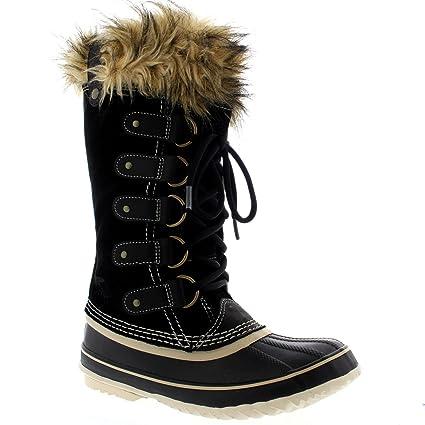 704dee18ebbb Amazon.com   Sorel Womens Joan Of Arctic Snow Waterproof Winter Boots Mid  Calf Rain - Black - 6   Sports   Outdoors