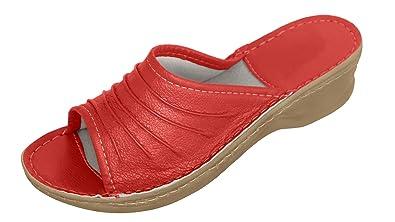 Original Womens Damen Zehentrenner Schuhe orthopauml;dische Insole. verschiedene Farben