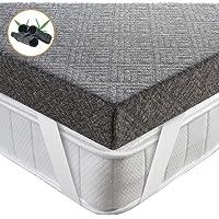 BedStory Topper Viscoelastico 90x190x7.5cm Topper Colchón con con Carbón de Bambú Antiácaros y Transpirable Sobrecolchón…