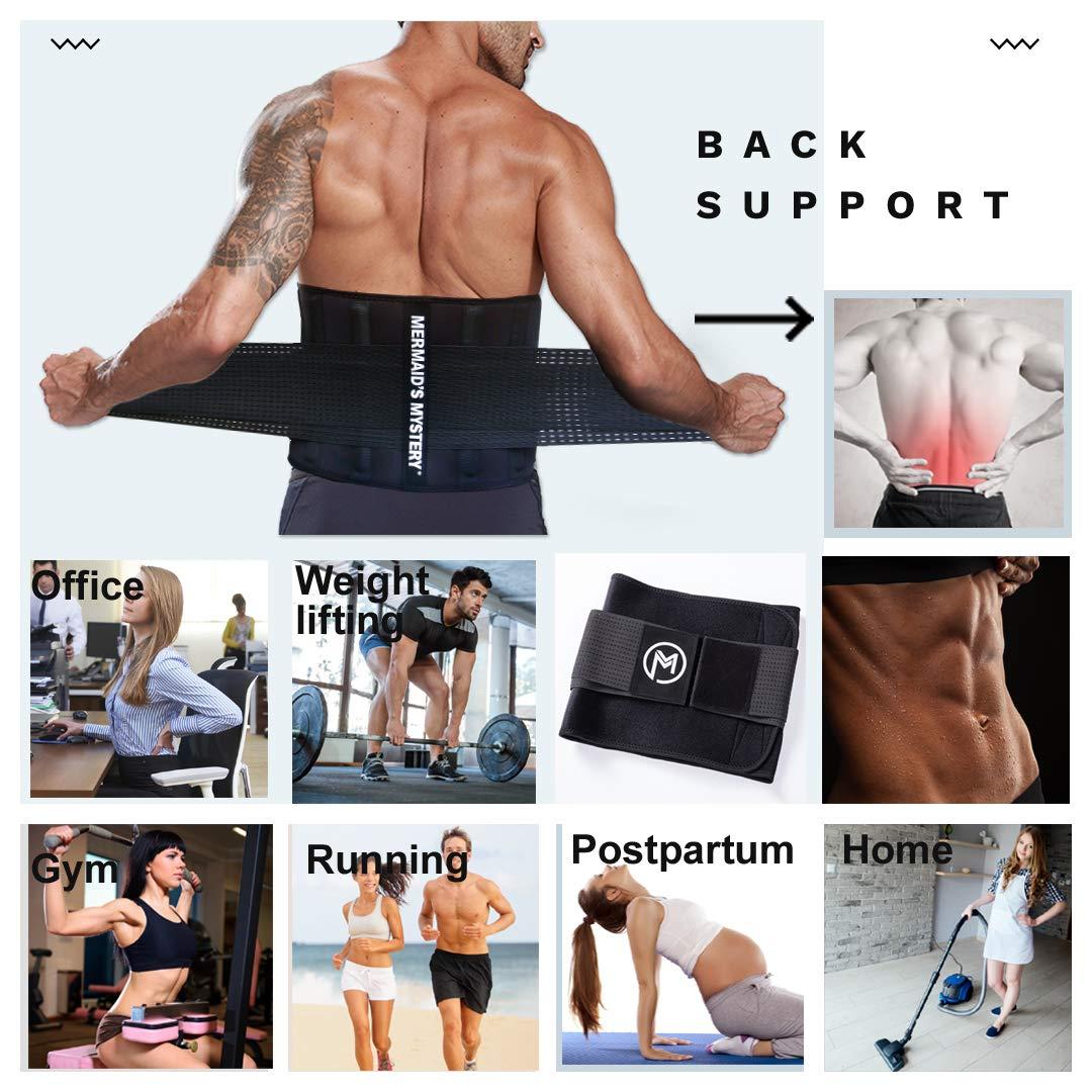 Mens Sport Sauna Sweat Waist Training Belt for Weight Loss Premium Waist Trimmer