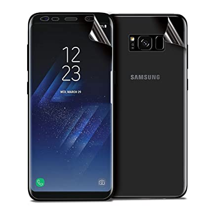 purchase cheap 184cd c4785 Olixar Samsung Galaxy S8 Plus Front and Back Protectors - Edge to Edge/Full  Cover Screen Protector - TPU