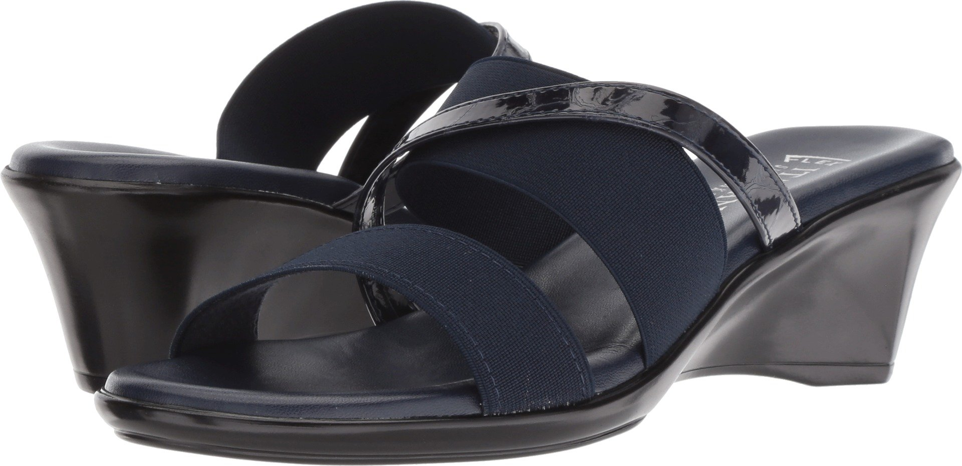 ITALIAN Shoemakers Women's Lorel Navy/Navy 6 M US M