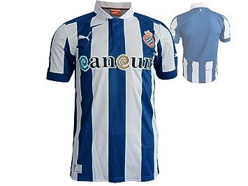 3f51e0cc1a2 Puma Men's Football Jersey Replica Espanyol Home blue true blue-white  Size:Small