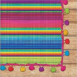 Creative Converting Serape Lunch Paper Napkins- 16 pcs, Multicolor