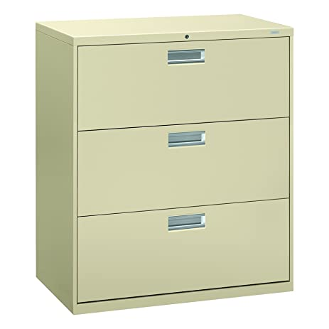 Amazon.com: HON 3-Drawer Filing Cabinet - 600 Series Lateral Legal ...