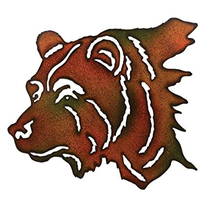 Amazon.com: Bear Wilderness Metal Lodge Wall Art - Rustic Decor ...