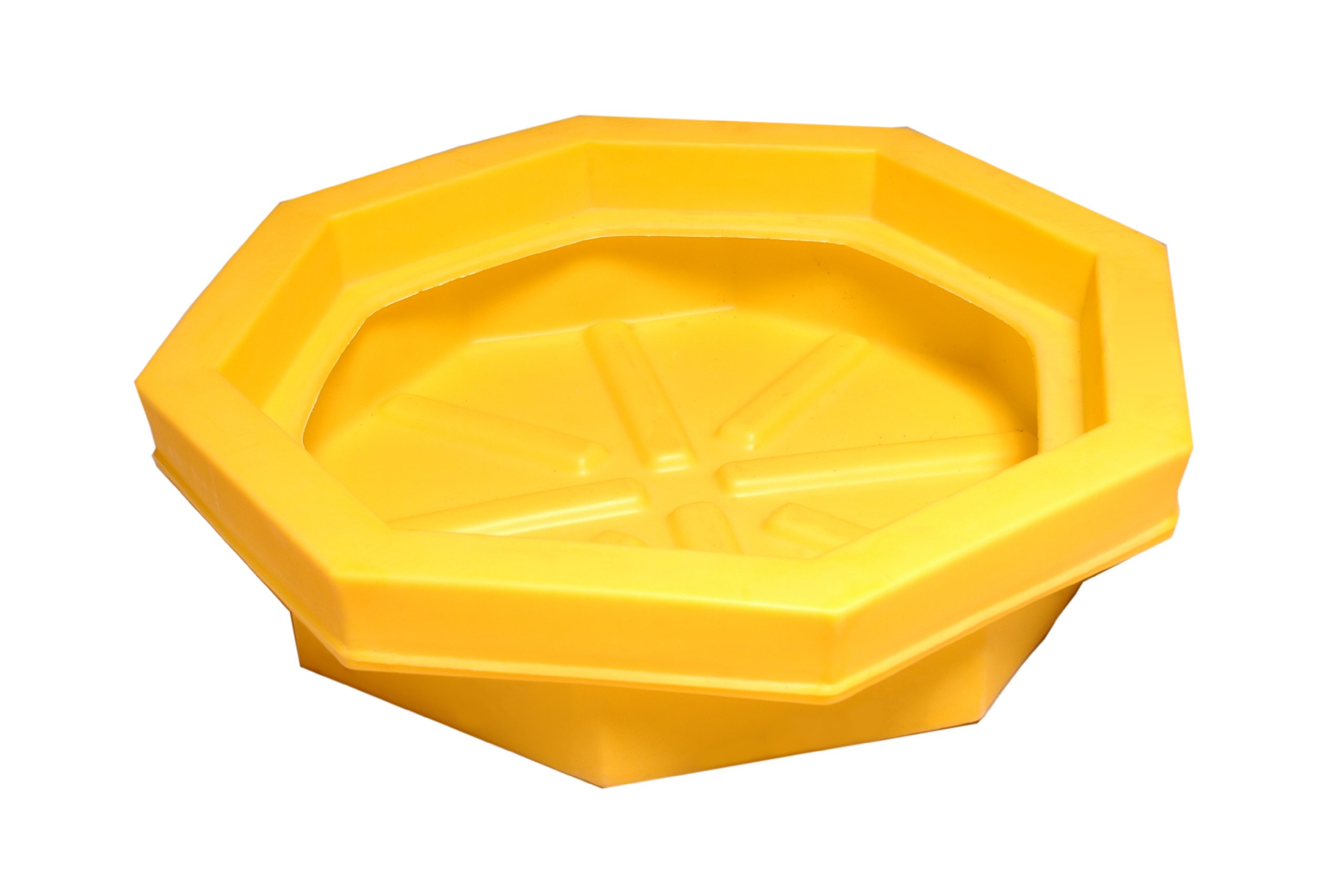 UltraTech 1045 Polyethylene Ultra-Drum Tray without Grate, 22.8 Gallon Capacity, 5 Year Warranty, Yellow