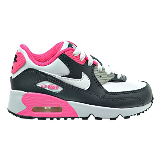 Nike Air Max 90 LTR (PS) Little Kid's Shoes Anthracite/White/Hyper