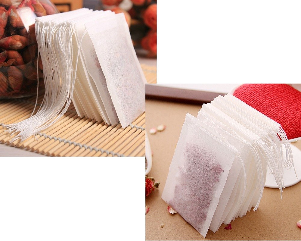 L Size 200 PCS/Lot Disposable Empty Tea Bags Drawstring Seal Filter Heal Paper for Tea coffee Filter bags tea tools by Kira Anna Home and Garden Shop_1977
